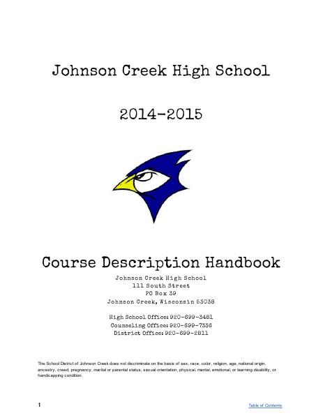 Course Description Handbook 2014-2015 Rev.2