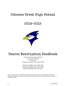 Course Description Handbook