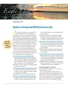 Eagle Lake Improvement Association Newsletter