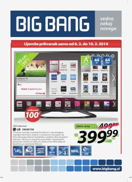 BIG Bang Katalogi (6. 2. do 19. 2. 2014)