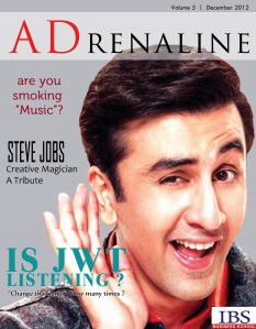 ADrenaline December 2012 Issue published by ADmire Dec. 2012