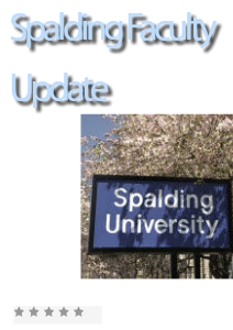 Spalding Faculty Development 1