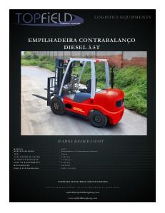 Empilhadeiras e Equipamentos de Logística EMPILHADEIRAS CONTRABALANÇO DIESEL 3.5T