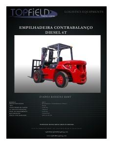 Empilhadeiras e Equipamentos de Logística EMPILHADEIRAS CONTRABALANÇO DIESEL 6T