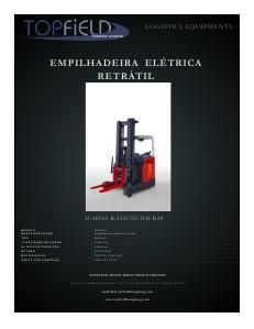 Empilhadeiras e Equipamentos de Logística EMPILHADEIRA ELÉTRICA RETRÁTIL