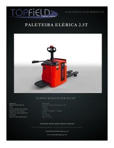 PALETEIRA ELÉTRICA 2.5T