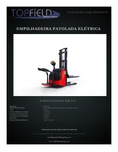 Empilhadeiras e Equipamentos de Logística EMPILHADEIRA PATOLADA ELÉTRICA