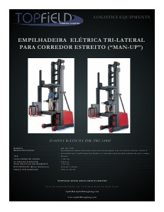"EMPILHADEIRA ELÉTRICA TRI-LATERAL ""MAN UP\"""
