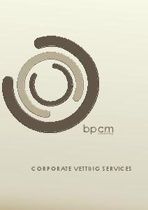 BPCM Vetting Services 2014