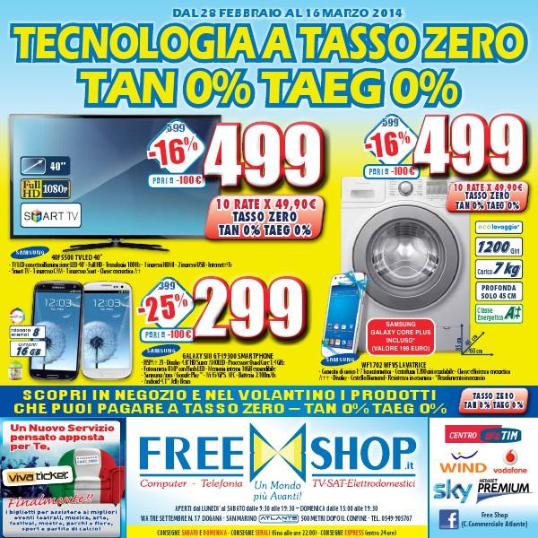 Freeshop TECNOLOGIA  A TASSO ZERO TAN 0% TAEG 0%