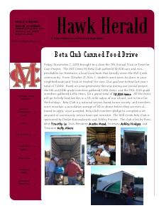 Hawk Herald December 2013 | Volume 9 Issue 3