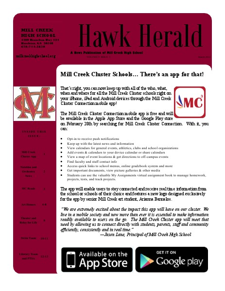 Hawk Herald March 2014 | Volume 9 Issue 5