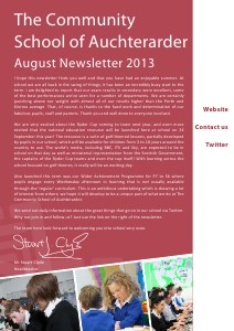 TCSoA School Newsletter September 2013