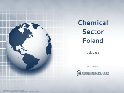 EMIS Emerging Market Information Service EMIS - Chemical Sector Poland