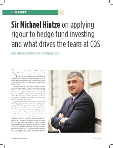 Hedge Fund Intelligence Sir Michael Hintze interview