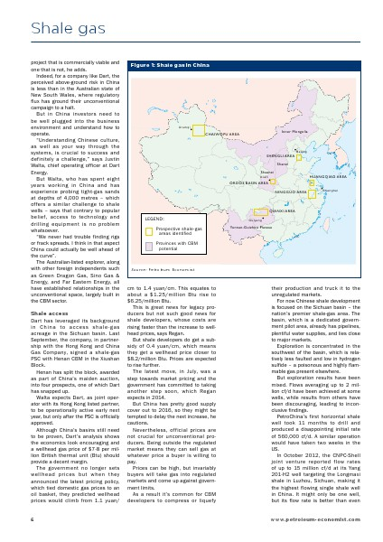 Petroleum Economist Maps, Books and Reports Shale Gas Report- Additional Sample Pages