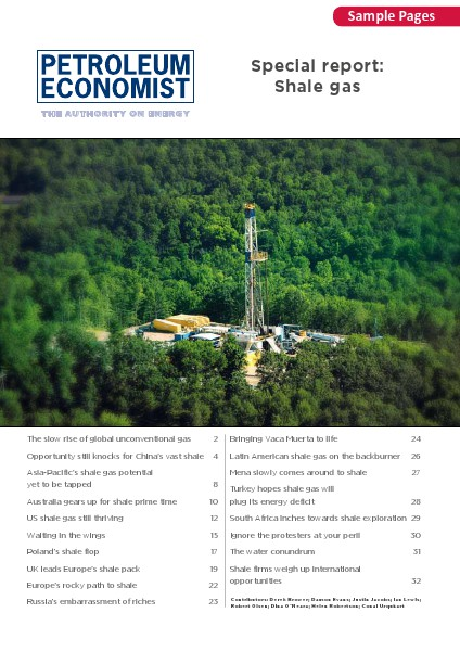Petroleum Economist Maps, Books and Reports Shale Gas Report Sample