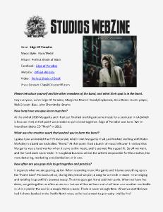 DJ REM STUDIOS Webzine October 2013 Issue 2
