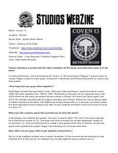 DJ REM STUDIOS Webzine November 2013 Issue 2