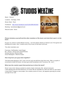DJ REM STUDIOS Webzine January Issue 1
