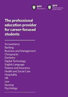 The professional education provider for career-focused students