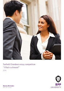 BPP University Tanfield Chambers Essay Competition 2014