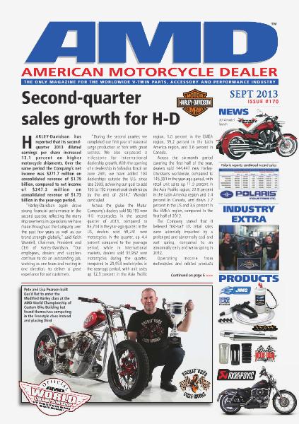 American Motorcycle Dealer AMD 170 September 2013
