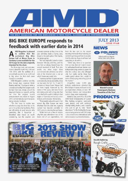 American Motorcycle Dealer AMD 168 July 2013