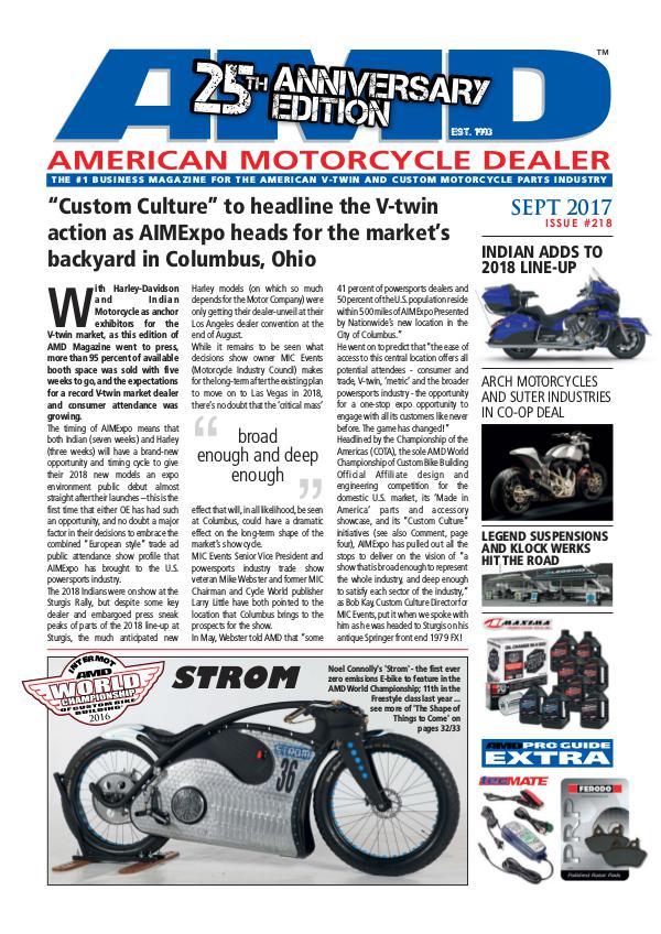 American Motorcycle Dealer AMD 218 September 2017