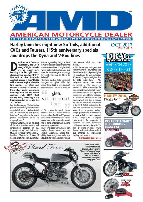 American Motorcycle Dealer AMD 219 October 2017