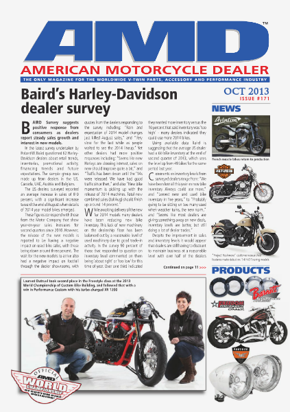American Motorcycle Dealer AMD 171 October 2013