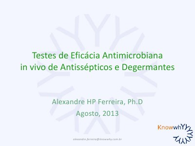 Avaliação de Eficácia Antimicrobiana in vivo
