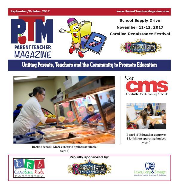 Parent Teacher Magazine Charlotte-Mecklenburg Schools September 2017