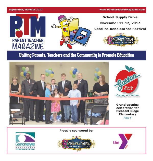Parent Teacher Magazine Gaston County Schools September 2017