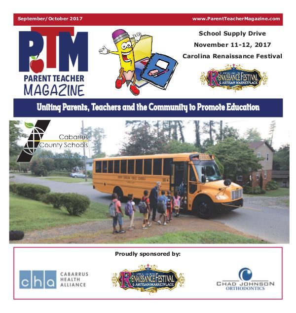 Parent Teacher Magazine Cabarrus County Schools September 2017
