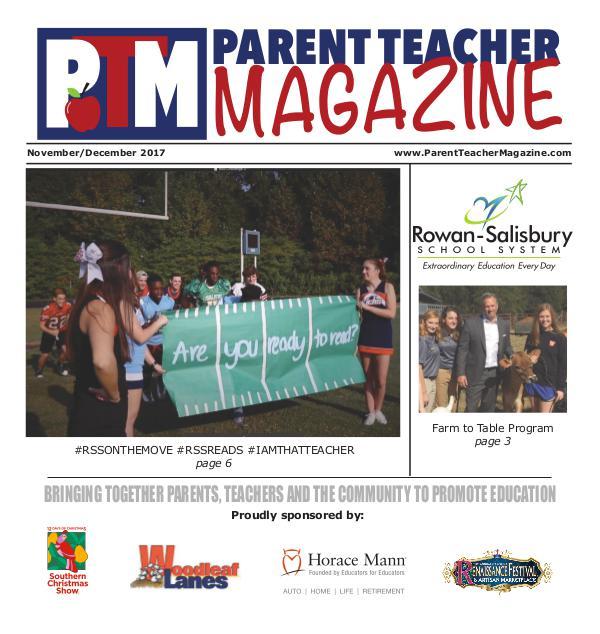 Parent Teacher Magazine Rowan-Salisbury Schools Nov/Dec 2017