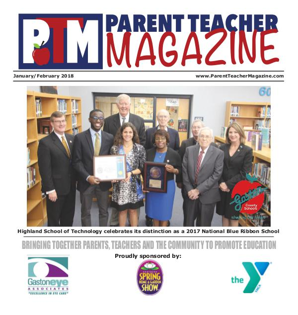 Parent Teacher Magazine Gaston County Schools Jan/Feb 2018