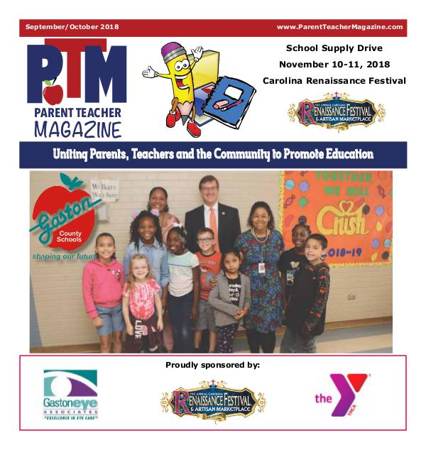 Parent Teacher Magazine Gaston County Schools Sept/Oct 2018