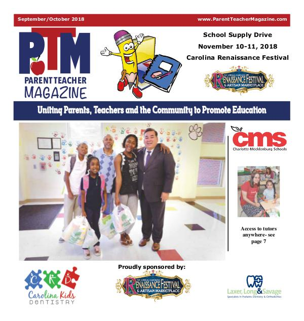 Parent Teacher Magazine Charlotte-Mecklenburg Schools Sept/Oct 2018