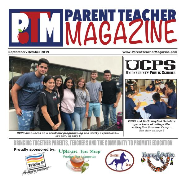 Parent Teacher Magazine Sept/Oct Union County Public Schools