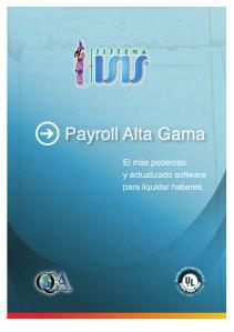Catalogo ISIS Payroll Alta Gama