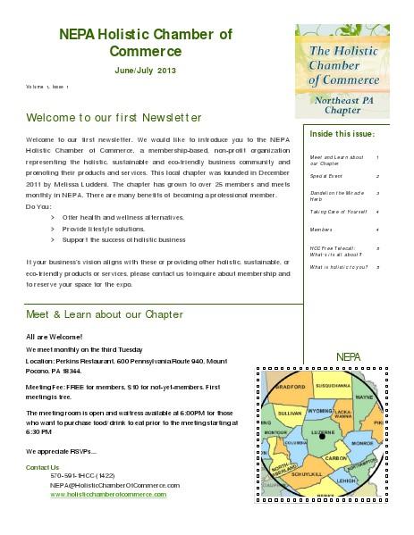 2013 NEPA HCC - Newsletters June/July 2013