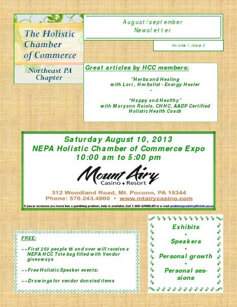 2013 NEPA HCC - Newsletters August/September 2013