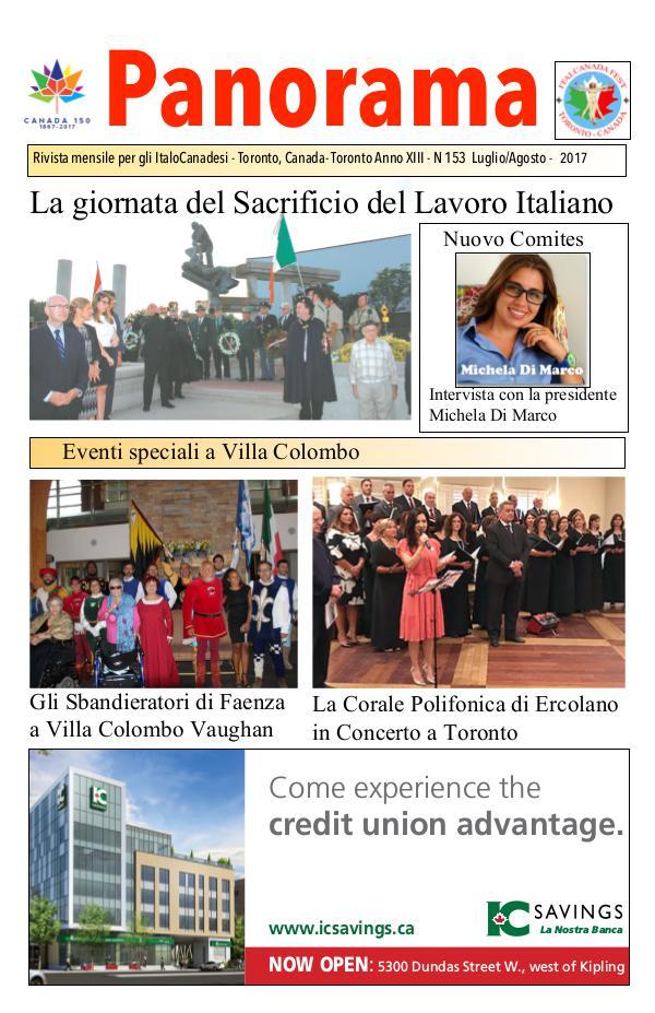 Panorama ItalianCanadian Panorama July/August 2017