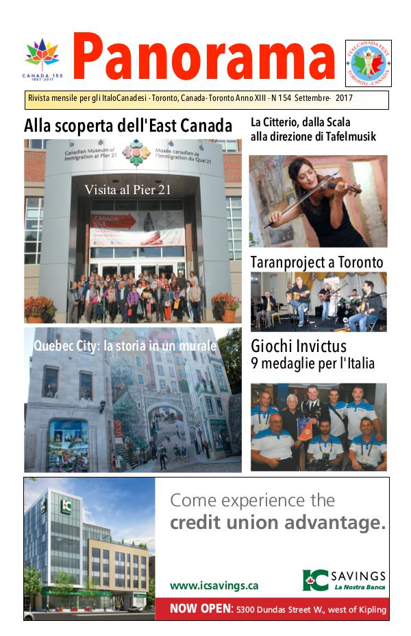 Panorama ItalianCanadian September 2017