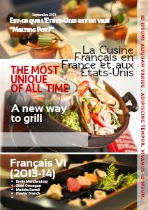La Cuisine Français en France et aux Etats-Unis Septembre 2013