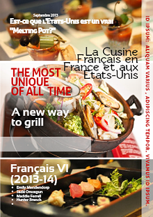 La Cuisine Français en France et aux Etats-Unis