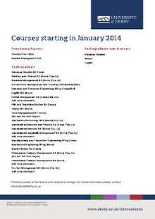 January 2014 Course List