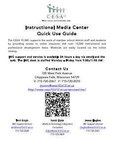 CESA 10 IMC Quick Use Guide