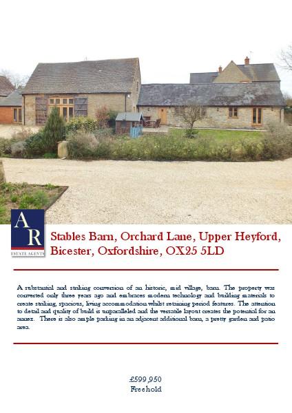 Properties Orchard Lane, Upper Heyford